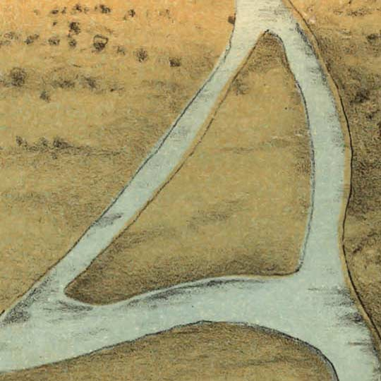 Birdseye map of Milwaukee by Bailey in 1872 image detail