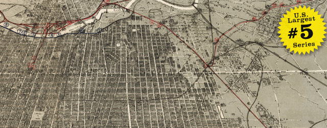 Birdseye map of Philadelphia by McFetridge – 1887 wide thumbnail image