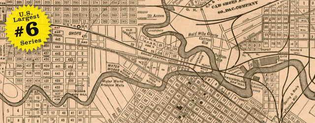 Map of Houston by Wm. M. Thomas & Co. in 1890 wide thumbnail image