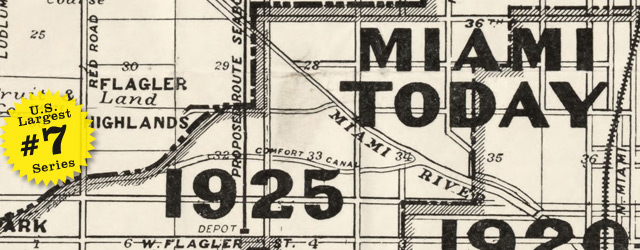 Map of Miami by Douglass in 1925 wide thumbnail image