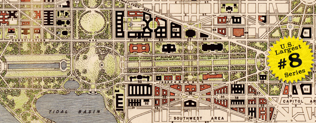 Map of Washington DC by National Capital Park and Planning Commission in 1941 wide thumbnail image