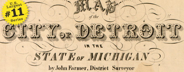 Street map of Detroit by Farmer – 1835 wide thumbnail image