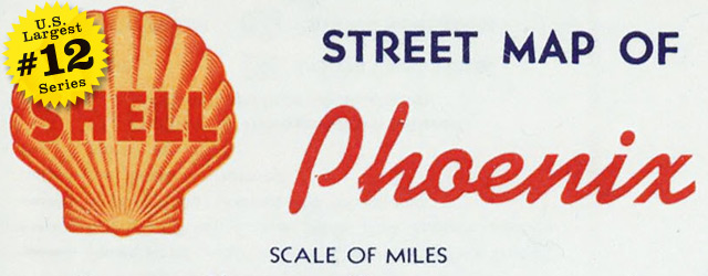 Street map of Phoenix by Shell Oil Company  1956 wide thumbnail image