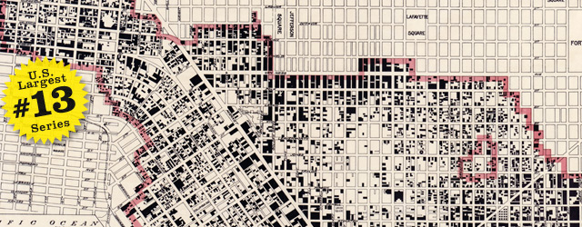 Map of San Francisco 2 years after the earthquake by Punnet Bros. - 1908 wide thumbnail image