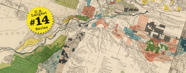 Irrigation map of Riverside and San Bernardino by California Department of Engineering – 1888 wide thumbnail image