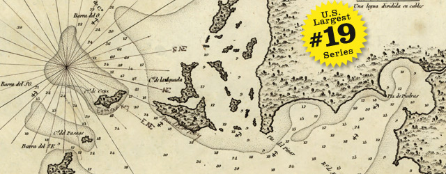 Bathymetric map of Tampa Bay by Spain Directorate of Hydrography in 1809 wide thumbnail image
