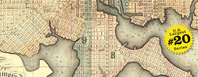 Plan of the city of Baltimore by Lucas in 1827 wide thumbnail image