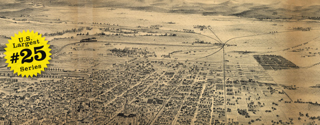 Birdseye map of Sacramento by Elliott – 189x wide thumbnail image