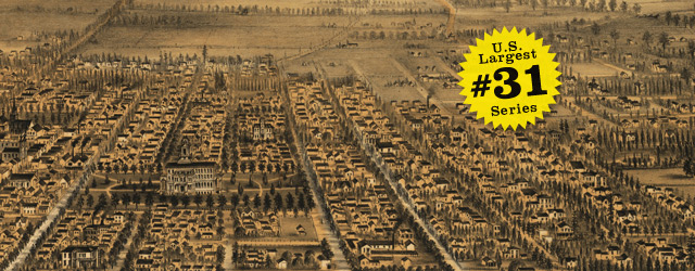 Birdseye map of San Jose by Gifford in 1875 wide thumbnail image