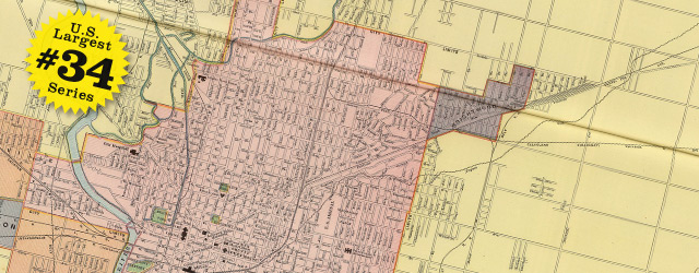 Street map of Indianapolis 1902 wide thumbnail image