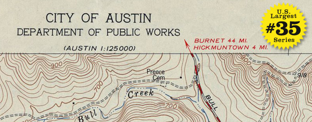USGS Topographic map of Austin – 1954 wide thumbnail image
