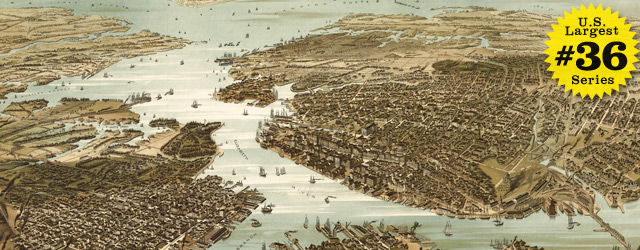 Birdseye Map Of Norfolk By Wellge In 1892 Wide Thumbnail Image
