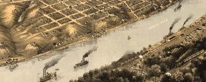 A. Ruger&#039;s Birdseye map of Kansas City, Missouri in 1869. Birdseye view of Kansas City, Missouri Date: 1869 Author: A. Ruger Dwnld: Full Size (11.8mb) Print Availability: See our Prints Page for more details pff This map isn&#039;t part of any series, but we have other Missouri maps that you might want to check out. This birdseye map of Kansas City, Missouri&nbsp;[gmap] isn&#039;t bad at all, but it&#039;s a touch...