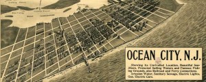 F.H. Taylor's birdseye map of Ocean City, New Jersey in 1903. Birdseye Map of Ocean City, New Jersey Date: 1903 Author: F.H. Taylor Dwnld: Full Size (13.3mb) Print Availability: See our Prints Page for more details pff This map isn't part of any series, but we have other featured maps that you might want to check out. Frank Taylor's only birdseye map that I could find is this rather conflicting...