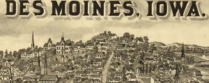 A.T. Andreas' Illustrated Atlas of Iowa from 1875 (second plate). Des Moines, Iowa, from the Illustrated Atlas of Iowa Date: 1875 Author: A.T. Andreas Dwnld: Full Size (5.2mb) Print Availability: See our Prints Page for more details pff This map isn't part of any series, but we have other featured maps that you might want to check out. A.T. Andreas' birdseye map of Des Moines, Iowa [gmap] in 1875. For more...