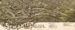 T.M. Fowler's birdseye map of Scranton, Pennsylvania in 1890. Birdseye view of Scranton, Pennsylvania Date: 1890 Author: T.M. Fowler Dwnld: Full Size (15.4mb) Print Availability: See our Prints Page for more details pff This map isn't part of any series, but we have other maps of Pennsylvania that you might want to check out. T.M. Fowler's birdseye map of Scranton, Pennsylvania [gmap] in 1890. For more maps and images from this...