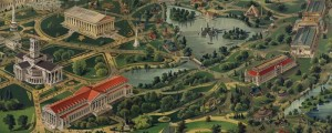 Henderson's birdseye map of the Tennessee Exposition in 1897. Birdseye view of the Tennessee Exposition Date: 1897 Author: Henderson Litho. Dwnld: Full Size (18.5mb) Print Availability: See our Prints Page for more details pff This map isn't part of any series, but we have other Nashville maps that you might want to check out. Henderson's birdseye map of the Tennessee Exposition [gmap] in Nashville, Tennessee in 1897 For more maps and...