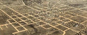 A. Ruger&#8217;s Birdseye map of Columbia, Missouri in 1869. Birdseye view of Columbia, Missouri Date: 1869 Author: A. Ruger Dwnld: Full Size (9.9mb) Print Availability: See our Prints Page for more details pff This map isn&#8217;t part of any series, but we have other featured maps that you might want to check out. Here&#8217;s the town where your Big Map Curator the 59 King went to school; I spent six...