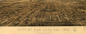 Charles B. Gifford's birdseye Map of San Jose, California, from 1875. San Jose Birdseye Map Date: 1875 Author: Charles B. Gifford Dwnld: Full Size (14.1mb) Print Availability: See our Prints Page for more details pff This map isn't part of any series, but we have other California maps that you might want to check out. Gifford's birdseye map of San Jose, California [gmap] in 1875. For more maps and images from...