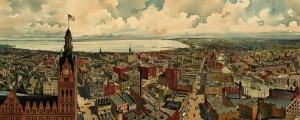 Gugler's birdseye map of Milwaukee, Wisconsin in 1898. Birdseye view of Milwaukee – 1898 Date: 1898 Author: Gugler Litho. Dwnld: Full Size (18.0mb) Print Availability: See our Prints Page for more details pff This map isn't part of any series, but we have other Wisconsin maps that you might want to check out. This print of Milwaukee [gmap] is one of the prettiest things on this entire site, hands down. This...