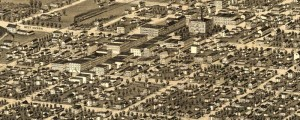 A. Ruger's Birdseye map of Ann Arbor, Michigan in 1880. Birdseye view of the city of Ann Arbor, Michigan Date: 1880 Author: A. Ruger Dwnld: Full Size (11.1mb) Print Availability: See our Prints Page for more details pff This map isn't part of any series, but we have other Michigan maps that you might want to check out. Albert Ruger's birdseye map of Ann Arbor [gmap] in 1880. For more maps...