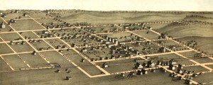 A. Ruger's Birdseye map of Blairstown, Iowa from 1869. Birdeseye view of Blairstown, Iowa Date: 1869 Author: A. Ruger Dwnld: Full Size (1.9mb) Print Availability: See our Prints Page for more details pff This map isn't part of any series, but we have other Featured maps that you might want to check out. Made fairly early in Albert Ruger's mad and creative dash across the Midwestern United States, this birdseye...