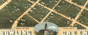 A. Ruger's Birdseye map of Bowling Green, Kentucky in 1871. Birdseye view of Bowling Green, Kentucky Date: 1871 Author: A. Ruger Dwnld: Full Size (11.6mb) Print Availability: See our Prints Page for more details pff This map isn't part of any series, but we have other Kentucky maps that you might want to check out. Standard-fare early-period Ruger map of Bowling Green, Kentucky [gmap] from 1871. I really like these high-angle,...