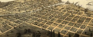 A. Ruger's Birdseye map of Port Huron, Michigan in 1867. Birdseye view of Port Huron, Sarnia and Gratiot, Michicgan Date: 1867 Author: A. Ruger Dwnld: Full Size (9.9mb) Print Availability: See our Prints Page for more details pff This map isn't part of any series, but we have other Michigan maps that you might want to check out. Here Ruger sketches Port Huron, Michigan [gmap], a handsome little town in the...