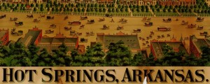Woodward & Tiernam's birdseye Map of Hot Springs, Arkansas, from 1890. Hot Springs, Ark. Birdseye Map Date: 1890 Author: Woodward & Tiernam Printing Co. Dwnld: Full Size (11mb) Print Availability: See our Prints Page for more details pff This map isn't part of any series, but we have other featured maps that you might want to check out. Woodward & Tiernam's birdseye map of Hot Springs, Arkansas [gmap] in 1890. For...