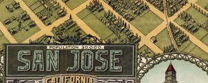 Stone Co.&#039;s birdseye map of San Jose California from 1901. Birdseye Map of San Jose, Calif. Date: 1901 Author: Stone Co. Dwnld: Full Size (18.0mb) Print Availability: See our Prints Page for more details pff This map isn&#039;t part of any series, but we have other California maps that you might want to check out. It&#039;s credited to Stone Co. but this birdseye map of San Jose, California&nbsp;[gmap] bears too...