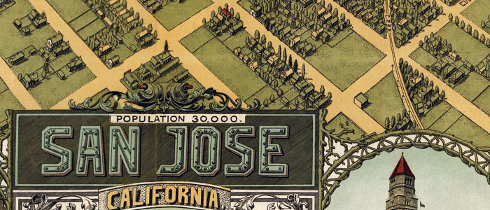 Stone S Birdseye Map Of San Jose California 1901
