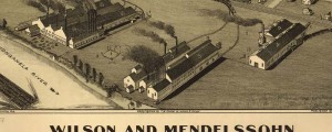 T.M. Fowler's birdseye map of Wilson and Mendelssohn, Pennsylvania in 1902. Wilson and Mendelssohn, Pennsylvania Date: 1902 Author: T.M. Fowler Dwnld: Full Size (2.4mb) Print Availability: See our Prints Page for more details pff This map isn't part of any series, but we have other maps of Pennsylvania that you might want to check out. Fowler's birdseye map of Wilson, Pennsylvania [gmap] in 1902. For more maps and images from this...