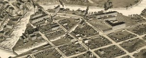 C.J. Pauli's birdseye map of South Bend, Indiana in 1890. Birdseye Map of South Bend, Indiana – Pauli Date: 1890 Author: C.J. Pauli Dwnld: Full Size (15.2mb) Print Availability: See our Prints Page for more details pff This map isn't part of any series, but we have other Featured maps that you might want to check out. This is a pretty unlovely little complicated birdseye, and I'm choosing to believe...