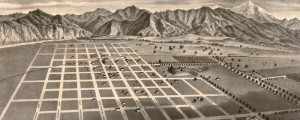 E.S. Moore's birdseye Map of Azusa, California, from 1887. Azusa, California Birdseye Map Date: 1887 Author: E.S. Moore Dwnld: Full Size (9.5mb) Print Availability: See our Prints Page for more details pff This map isn't part of any series, but we have other Southern California maps that you might want to check out. Birdseye view of Azusa [gmap], California in 1887. The Library of Congress has this one as being by...