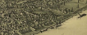 T.M. Fowler's birdseye map of Sistersville, West Virginia in 1896. Birdseye view of Sistersville, West Virginia Date: 1896 Author: T.M. Fowler Dwnld: Full Size (7.4mb) Print Availability: See our Prints Page for more details pff This map isn't part of any series, but we have other featured maps that you might want to check out. T.M. Fowler's birdseye map of Sistersville, West Virginia [gmap] in 1896. For more maps and images […]