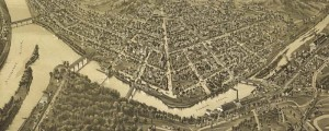 T.M. Fowler's birdseye map of Franklin, Pennsylvania in 1901. Birdseye view of Franklin, Pennsylvania Date: 1901 Author: T.M. Fowler Dwnld: Full Size (12.0mb) Print Availability: See our Prints Page for more details pff This map isn't part of any series, but we have other maps of Pennsylvania that you might want to check out. Mid-period Fowler litho of Franklin, Pennsylvania [gmap], with some rather bold perspective choices. For more maps and...