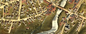 O.H. Bailey's birdseye map of Thomaston, Connecticut from 1879. Birdseye View of Thomaston, Conn. Date: 1879 Author: O.H. Bailey Dwnld: Full Size (11.4mb) Print Availability: See our Prints Page for more details pff This map isn't part of any series, but we have other featured maps that you might want to check out. O.H. 's birdseye map of Thomaston, Connecticut [gmap] in 1879. For more maps and images from this period...
