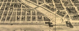Landis and Hughes' birdseye map of Asbury Park, New Jersey in 1897. Birdseye view of Asbury Park, New Jersey Date: 1897 Author: Landis and Hughes Dwnld: Full Size (18.0mb) Print Availability: See our Prints Page for more details pff This map isn't part of any series, but we have other New Jersey maps that you might want to check out. I'm not sure Landis & Hughes put enough local business...