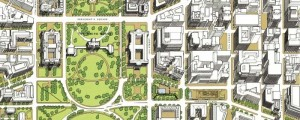 Joseph Passonneau's the Monumental Center of the Nation's Capital from 1996. The Monumental Center of the Nation's Capital Date: 1996 Author: Joseph Passonneau Dwnld: Full Size (18.7mb) pff This map isn't part of any series, but we have other Washington D.C. maps that you might want to check out. Passoneau's birdseye map of National Mall [gmap] in 1996. For more maps and images from this period in the region's history, visit […]