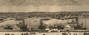 August Hageboeck's panorama of Rock Island, Illinois from 1869. Panorama of Rock Island, Illinois Date: 1869 Author: August Hageboeck Dwnld: Full Size (2.8mb) Print Availability: See our Prints Page for more details pff This map isn't part of any series, but we have other Illinois maps that you might want to check out. Hageboeck's birdseye map of Rock Island, Illinois [gmap] in 1869. For more maps and images from this period...