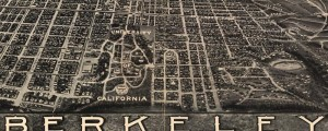 Charles Green's birdseye map of Berkeley, California from 1909. Birdseye View of Berkeley, Calif. Date: 1909 Author: Charles Green Dwnld: Full Size (11.7mb) Print Availability: See our Prints Page for more details pff This map isn't part of any series, but we have other Bay Area maps that you might want to check out. This birdseye of Berkeley, California [gmap] is the only product of its kind that I can find...