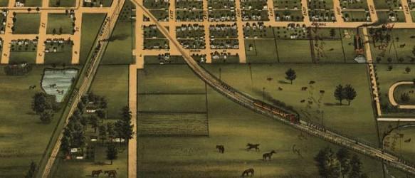 Birdseye View Of Mattoon, Illinois (1884