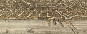 A. Ruger's birdseye view of Cleveland, Ohio in 1877. Birdseye view of Cleveland Date: 1877 Author: A. Ruger Dwnld: Full Size (14.1mb) Print Availability: See our Prints Page for more details pff This map isn't part of any series, but we have other maps of Ohio that you might want to check out. This late-period Ruger Litho of Cleveland [gmap] finds him at the height of his command of the form....