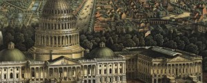 E. Sache's map of the Capitol, in Washington D.C., in 1871. View of the Capitol, Washington, D.C. Date: 1871 Author: E. Sache and Co. Dwnld: Full Size (11.7mb) Print Availability: See our Prints Page for more details pff Sasche's birdseye map of United States Capitol [gmap] in 1871. For more maps and images from this period in the region's history, visit the Historical Society of Washington D.C..