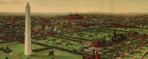 E. Kurtz Johnson's birdseye view of the National Capital, Washington D.C. In 1892. Birdseye view of the National Capital, Washington D.C. Date: 1892 Author: E. Kurtz Johnson Dwnld: Full Size (13.8mb) Print Availability: See our Prints Page for more details pff E.K. Johnson's birdseye map of Washington, D.C. [gmap] in 1892. For more maps and images from this period in the region's history, visit the The Historical Society of Washington D.C..
