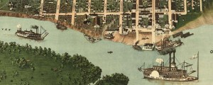 J. Blanton Postlethwaite&#039;s birdseye view of Paducah, Kentucky in 1889. Biredseye view of Paducah, Kentucky Date: 1889 Author: J. Blanton Postlethwaite Dwnld: Full Size (16.2mb) Print Availability: See our Prints Page for more details pff This map isn&#039;t part of any series, but we have other Kentucky maps that you might want to check out. Postlethwaite&#039;s birdseye map of Paducah, Kentucky&nbsp;[gmap] in 1889. For more maps and images from this...