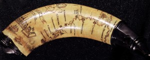 Powder horn with hand-drawn map of the Hudson River (above Albany), Mohawk River, Niagara region, and Lake Ontario in New York Province. Hudson Valley powderhorn map (1758) Date: 1758 Author: unknown Dwnld: Full Size (16.00mb) Source: Library of Congress Print Availability: See our Prints Page for more details pff This map isn&#039;t part of any series, but we have other maps of New York that you might want to check...