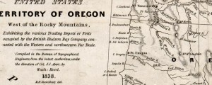 Washington Hood's Map of Oregon, showing nearby trading depots, from 1838. Map of Oregon showing trading depots Date: 1838 Author: Washington Hood Dwnld: Full Size (7.2mb) Print Availability: See our Prints Page for more details pff This map isn't part of any series, but we have other Oregon maps that you might want to check out. This is a map of trading depots in the Northwestern United States. It was...