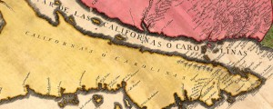"La Californie ou Nouvelle Caroline French Map Depicting California as an Island (1720s) Date: 1720 Author: Nicolas de Fer Dwnld: Full Size (11.18mb) Source: Library of Congress Print Availability: See our Prints Page for more details pff This map isn't part of any series, but we have other maps of California that you might want to check out. Another installment of Multi-Map Monday. People love ""California as an Island"". So […]"