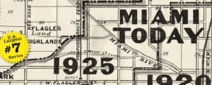 Map of Miami by Douglass in 1925 US40 #7 MIAMI, FLORIDA (Historical Boundaries, 1925) Date: 1925 Author: Douglass Dwnld: Full Size (4mb) Source: Library of Congress Print Availability: See our Prints Page for more details pff This map is part of a series depicting the 40 largest cities in the United States (as ranked by CBSA). This series will run through the month of July. This map of the historical...